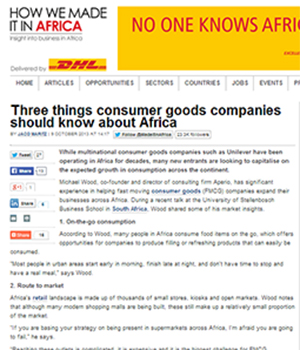 Three things consumer goods companies should know about Africa