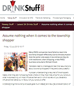 Assume nothing when it comes to the township shopper