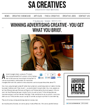 Winning advertising creative – You get what you brief