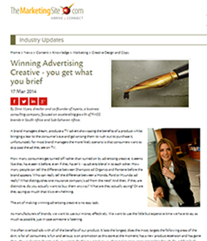 Winning Advertising Creative - you get what you brief